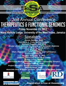 2nd Annual Conference of the Society for Scientific Advancement In Jamaica